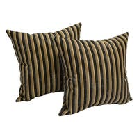 Midnight Stripe 17-inch Accent Throw Pillow (Set of 2)