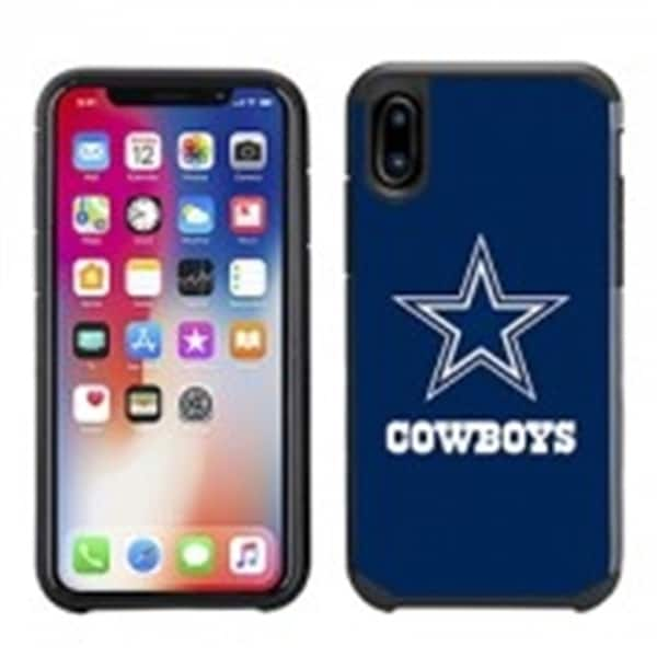 best authentic a26ef 8223c Dallas Cowboys NFL Licensed Slim Hybrid Texture Case for Apple iPhone X
