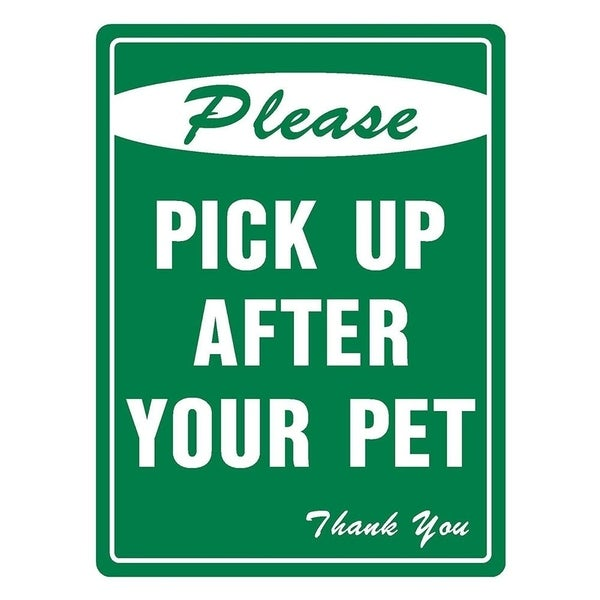 """Please Pick Up After Your Pet 12"""" x 8"""" Aluminum Metal Novelty Sign"""
