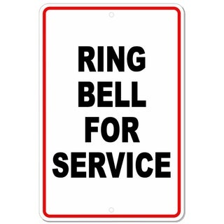 """Ring Bell For Service Metal Sign 8"""" x 12"""""""