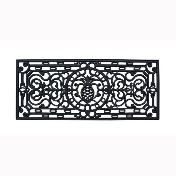 """First Impression Audie Rubber Entry Double doormat, 18""""X41"""""""