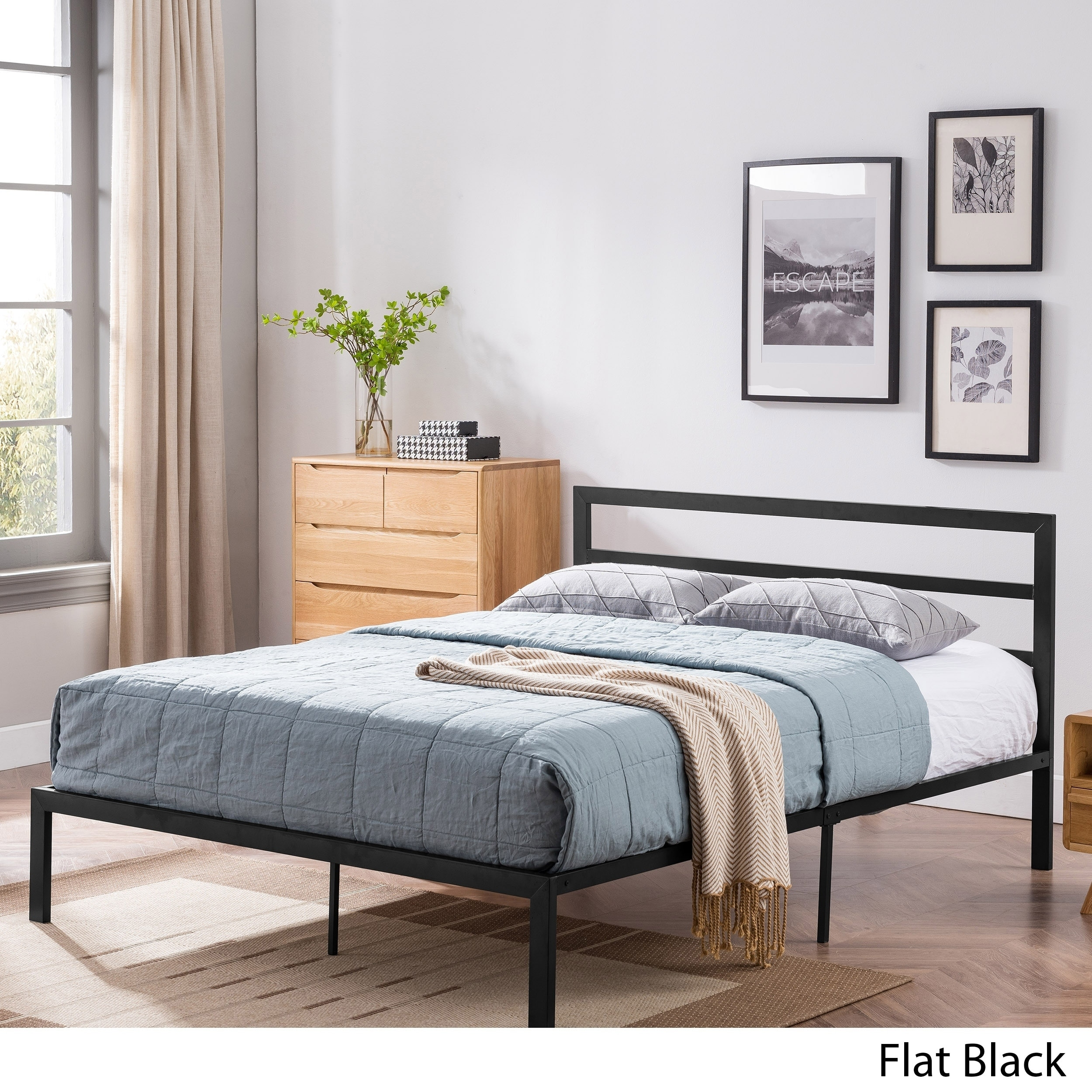 Image of: Shop Black Friday Deals On Kellen Modern Iron Queen Bed Frame By Christopher Knight Home On Sale Overstock 23055361 Hammered Copper