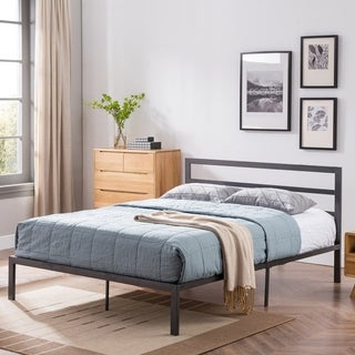 Kellen Queen-Size Bed Frame Iron Modern Contemporary by Christopher Knight Home