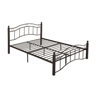 Bouvardia Contemporary Iron Queen Bed Frame by Christopher Knight Home (Hammered Copper - King)