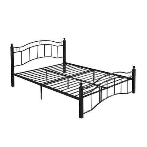 Bouvardia Contemporary Iron Queen Bed Frame by Christopher Knight Home