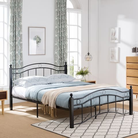 Bouvardia Modern Iron Queen Bed Frame by Christopher Knight Home