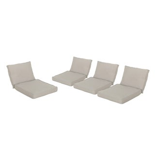 Honolulu Outdoor Weather-Resistant Cushions for Club Chairs (Set of 4) by Christopher Knight Home
