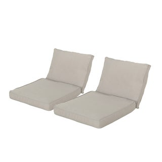 Honolulu Outdoor Weather-Resistant Cushions for Club Chairs (Set of 2) by Christopher Knight Home