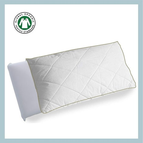 Organic Cotton Quilted Pillow Protector Set Of 2