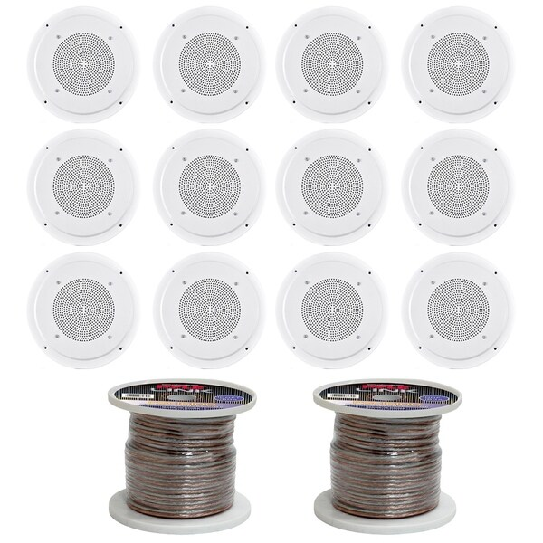 Shop Pyle 6 1 2 Full Range In Ceiling Speaker System W