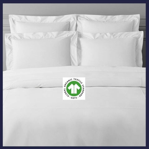 Organic Cotton White Fringed Pillow Case Pair 21X30
