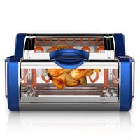 NUTRICHEF PKRTVG65BL Digital Countertop Rotisserie & Grill Oven Rotating Kitchen Cooker