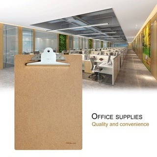 Deli 9224 A4 Wood Clipboard Writing Board Clip Board Office School Accessories