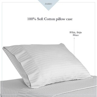 300TC 100% Cotton Stripe weave Anti Mite And Anti Bacterial Pillow Case Pair