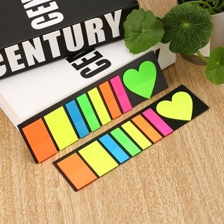 Colorful Sticky Notes Portable Page Markers Different Shapes Indicate Tabs - heart-shape