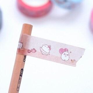Colorful Candy Color Decorative Tape DIY Scrapbooking Self-Adhesive Sticker - random