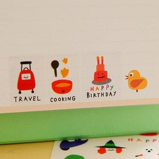 Students Diary Stickers DIY Food Expression Scrapbooking Decoration Stationery - randomly delivered