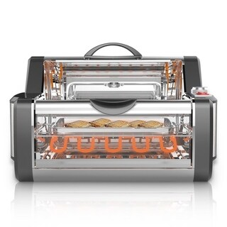 NUTRICHEF PKRTVG38 Countertop Rotisserie & Grill Oven, Rotating Cooker