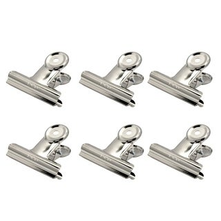 DELI 9523-51mm 6pcs/pack Silver Stainless Steel Grip s Bulldog s