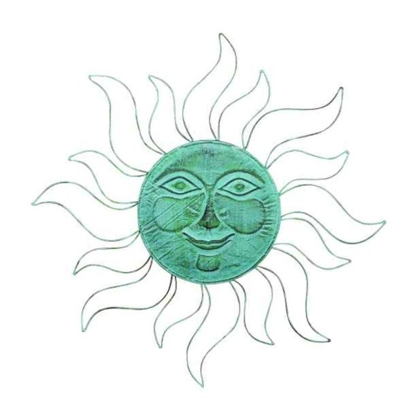 Shop Metal Sunface Wall Decor In Light Blue Finish With Unique