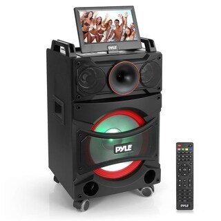 Karaoke Vibe Portable Video PA Speaker System w/ Built-in DVD Player