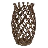 Benzara 35921 Creative Vase Ceramic Gold