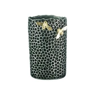 Enormously Beautiful Polyresin Honeycomb Flower Vase, Grey