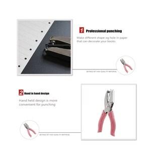 Tenwin DIY Handheld Paper Printing Card Hole Punch Kids Office Supplies