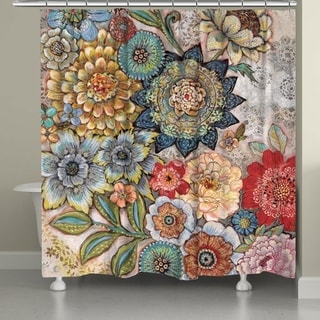 Laural Home Bohemian Bouquet Shower Curtain (As Is Item)