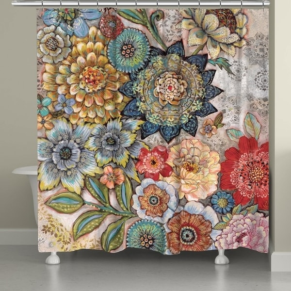 Laural Home Bohemian Bouquet Shower Curtain (As Is Item). Opens flyout.