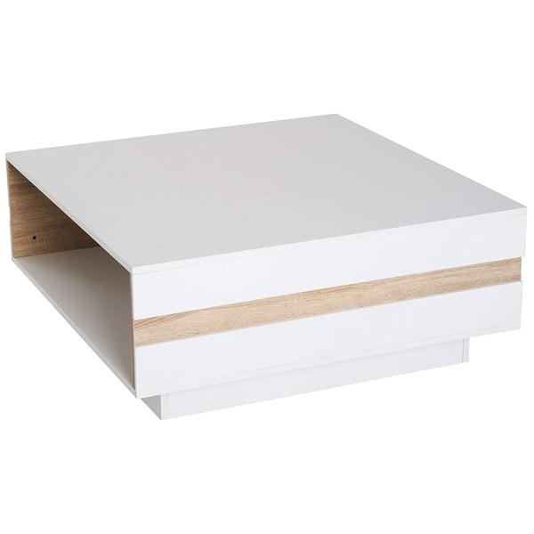 Homcom 40 Mid Century Modern Wooden Coffee Table With: Shop HomCom Modern 2-Tone White/Oak Wooden Rectangular