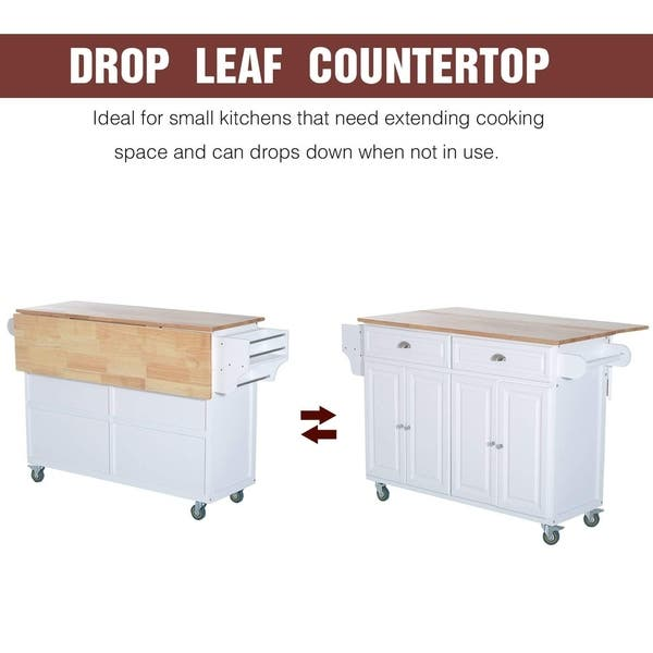 Homcom Wood Top Drop Leaf Multi