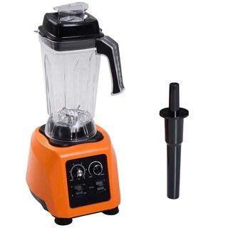 HomCom 1500W 28000 RPM Heavy Duty Commercial Grade Kitchen Blender - Orange / Black