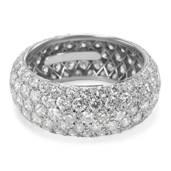 e259b15563dd Pre-Owned Tiffany  amp  Co. Etoile Five Row Pave Diamond Band in Platinum
