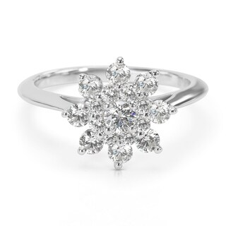 Pre-Owned Tiffany & Co. Blooming Flower Ring in Platinum 0.60 ctw