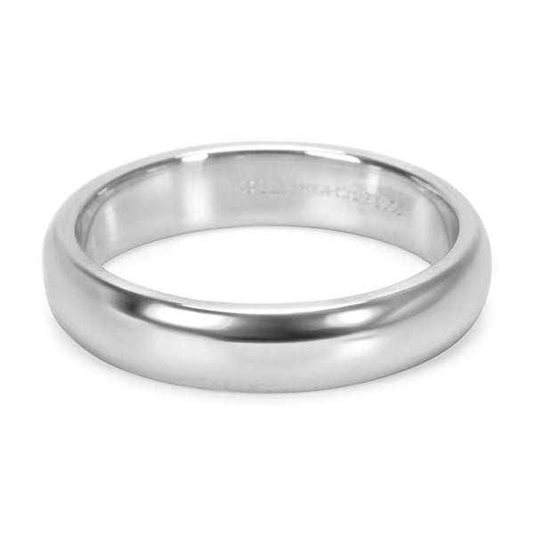 Shop Pre Owned Tiffany Co Plain Men S Wedding Band In Platinum