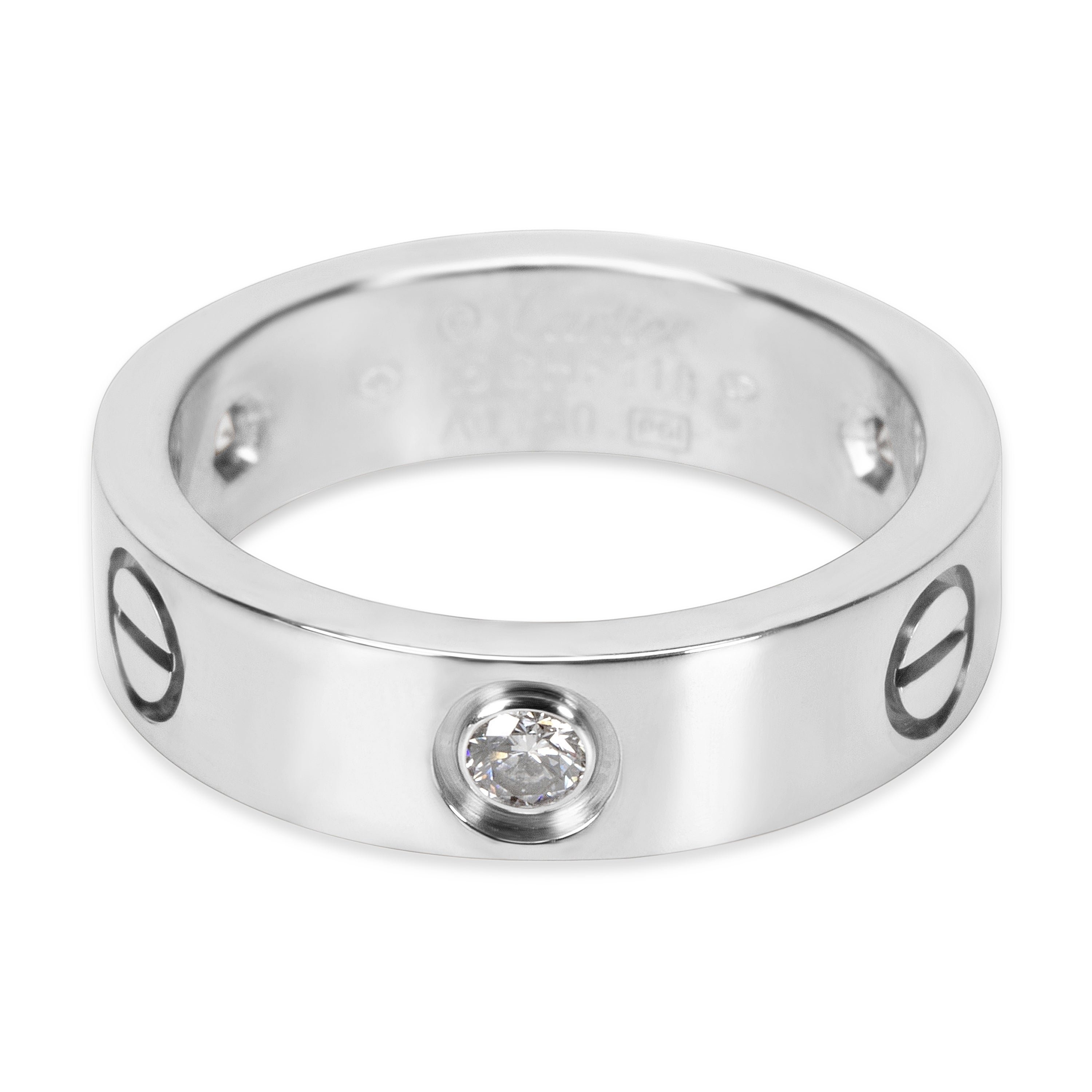 f0a9184ecf48d Shop Pre-Owned Cartier Diamond Love Ring in 18K White Gold (0.22 CTW) -  Free Shipping Today - Overstock - 23056024