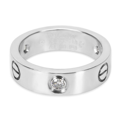 Pre-Owned Cartier Diamond Love Ring in 18K White Gold (0.22 CTW)
