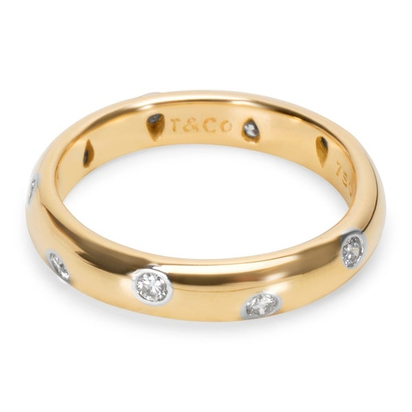 eb30bf8fc Shop Pre-Owned Tiffany & Co. Etoile Ring in 18K Yellow Gold (0.22 ...