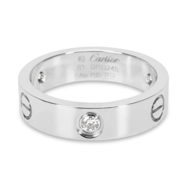 3bc7235c639d Shop Pre-Owned Cartier Love Ring with Diamonds in 18KT White Gold ...