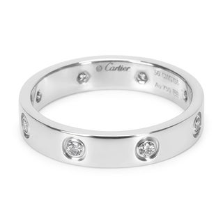 Pre-Owned Cartier Diamond Love Ring in 18KT White Gold 0.19ctw