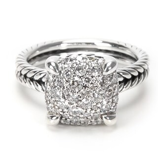 Pre-Owned David Yurman Chatelaine Diamond Ring in Sterling Silver 0.64ctw