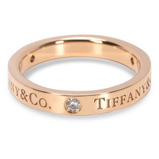 Pre-Owned Tiffany & Co. Diamond Flat Band in 18K Rose Gold