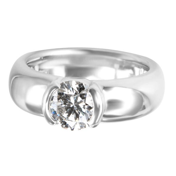 d537222b7bba Pre-Owned Tiffany  amp  Co. Etoile Solitaire Diamond Engagement Ring in  Platinum (