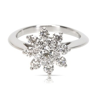 Pre-Owned Tiffany & Co. Diamond Flower Ring in Platinum (0.55 CTW)