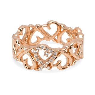 Pre-Owned Tiffany & Co. Paloma Picasso Loving Heart Band in 18K Rose Gold Size 7.5