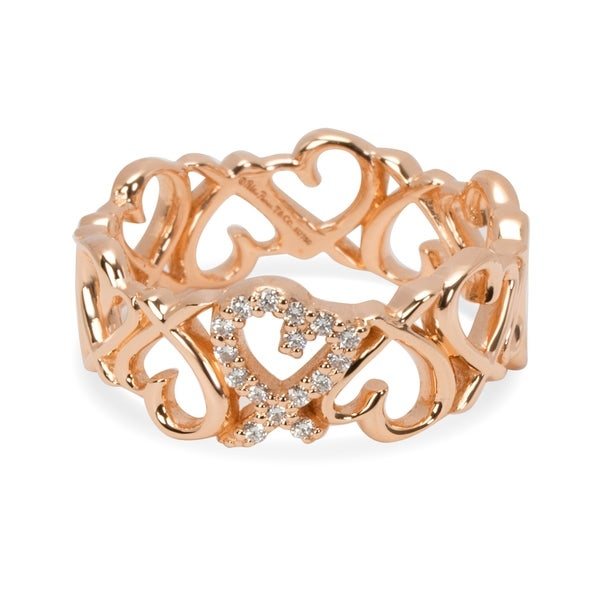 026429595e94b Shop Pre-Owned Tiffany & Co. Paloma Picasso Loving Heart Band in 18K ...