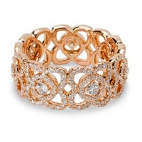 Pre-Owned De Beers Enchanted Diamond Lotus Band in 18K Rose Gold (1.22 CTW)