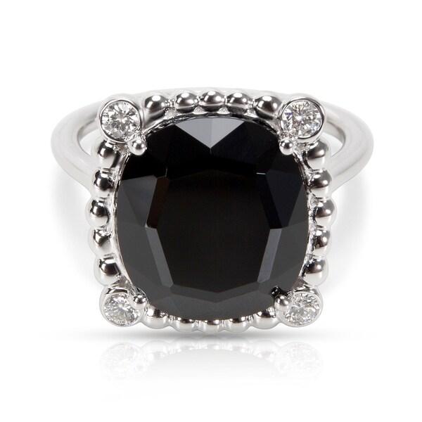 32217c891e415 Shop Pre-Owned Tiffany & Co. Ziegfeld Onyx & Diamond Spinel Ring in ...