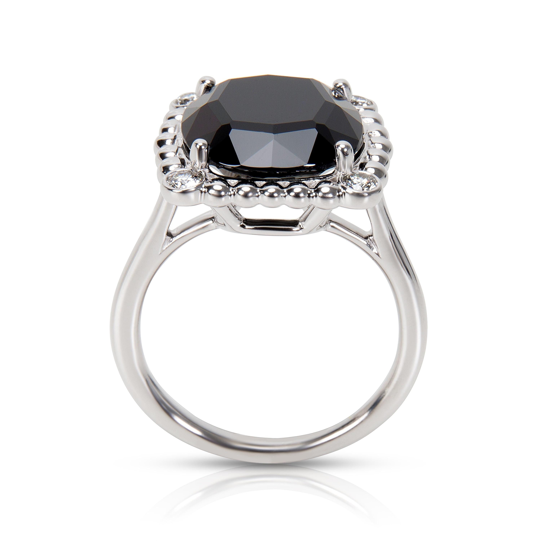 69b1cba6cb0e4 Pre-Owned Tiffany & Co. Ziegfeld Onyx & Diamond Spinel Ring in Sterling  Silver